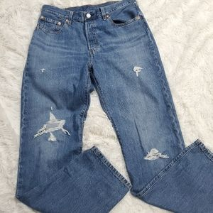New 501 Levi's high waisted straight leg jeans